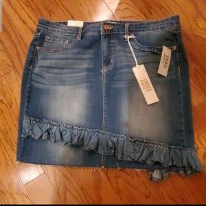 Vintage America Prima Vera Rena Denim  Mini Skirt